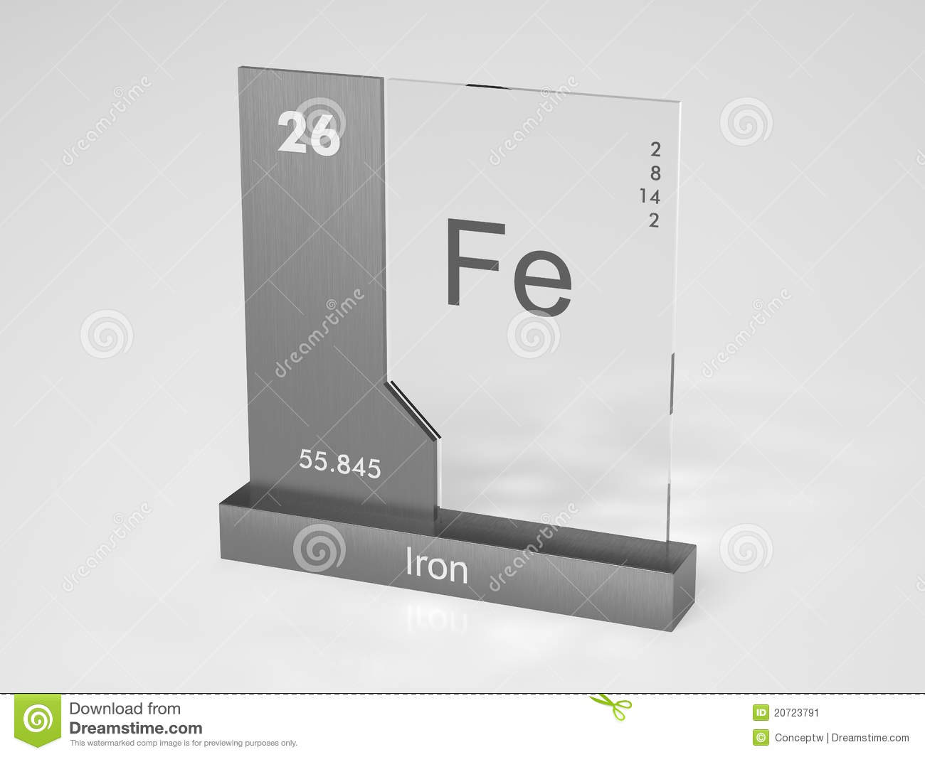Iron Element Symbol Black And White Iron - Symbol Fe Stock...