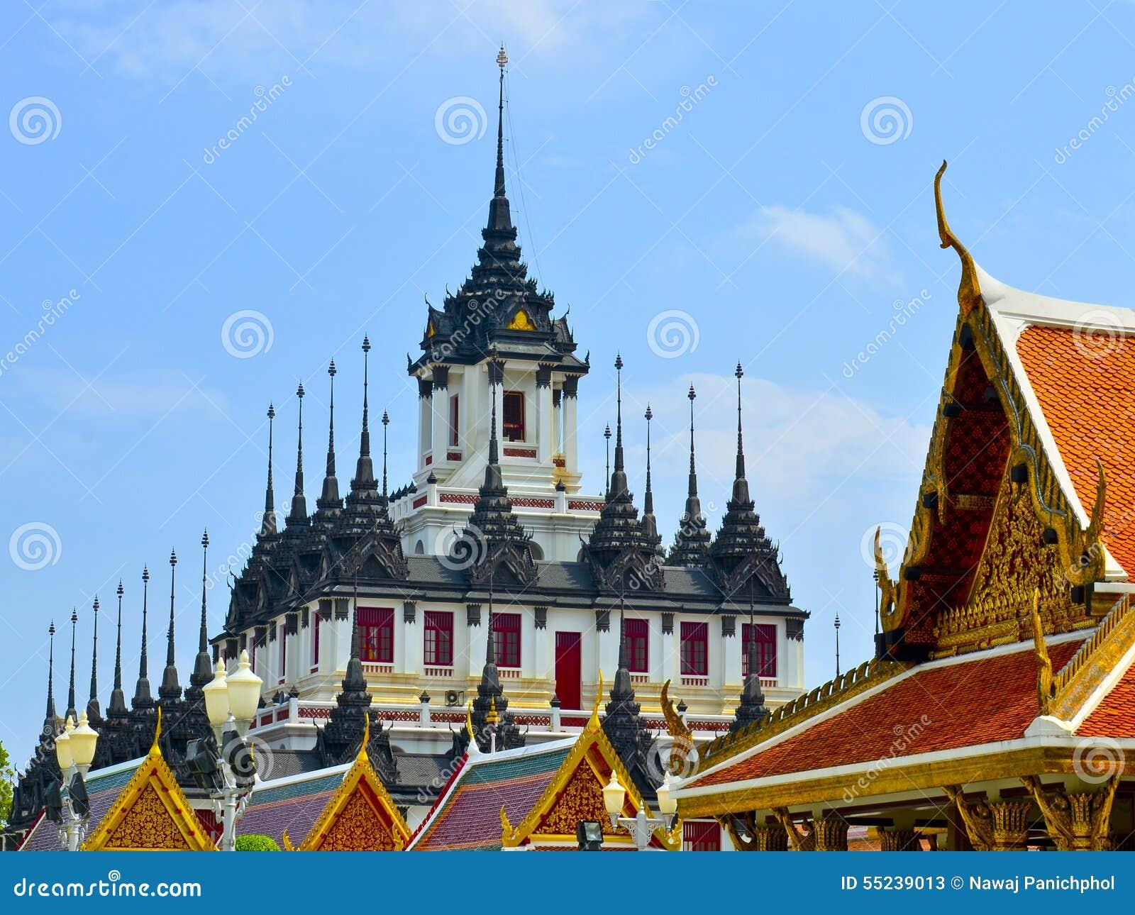 Iron Temple Loha Prasat In Wat Ratchanatdaram Thailand ...