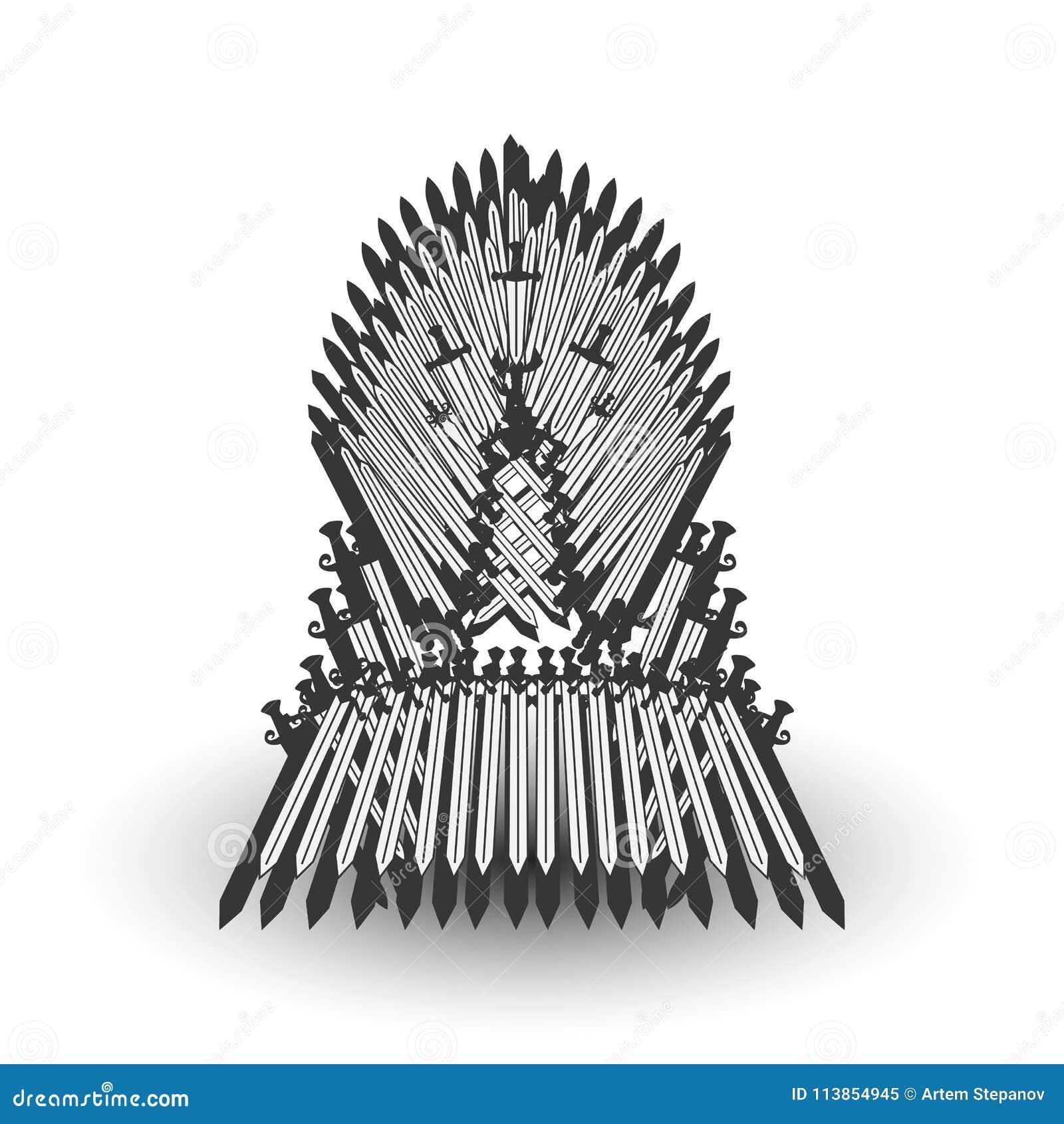 Iron Throne For Computer Games Design Stock Vector Illustration