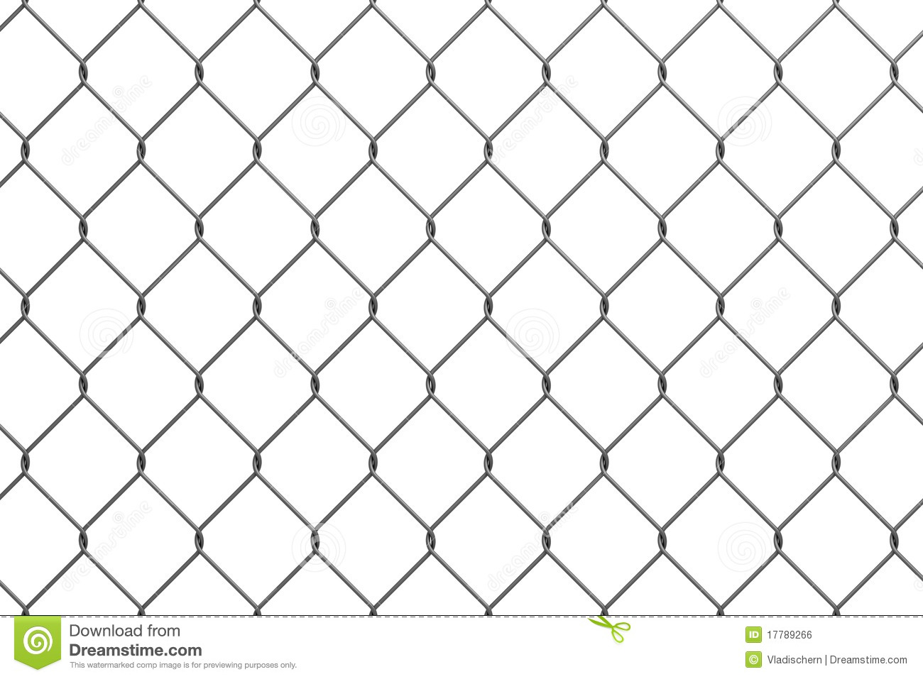 Iron Wire Fence Stock Illustration Image Of Metallic