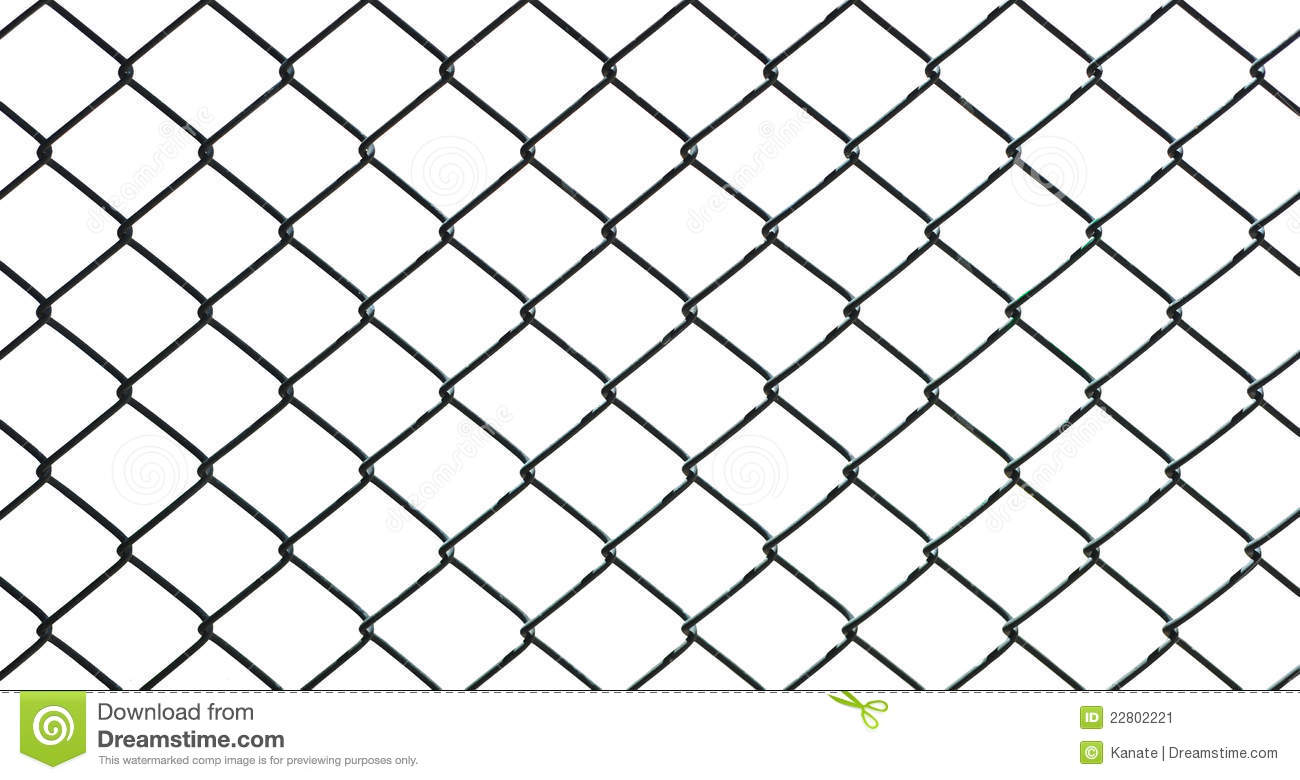 Iron Wire Fence Isolated On White Background Stock Illustration ...