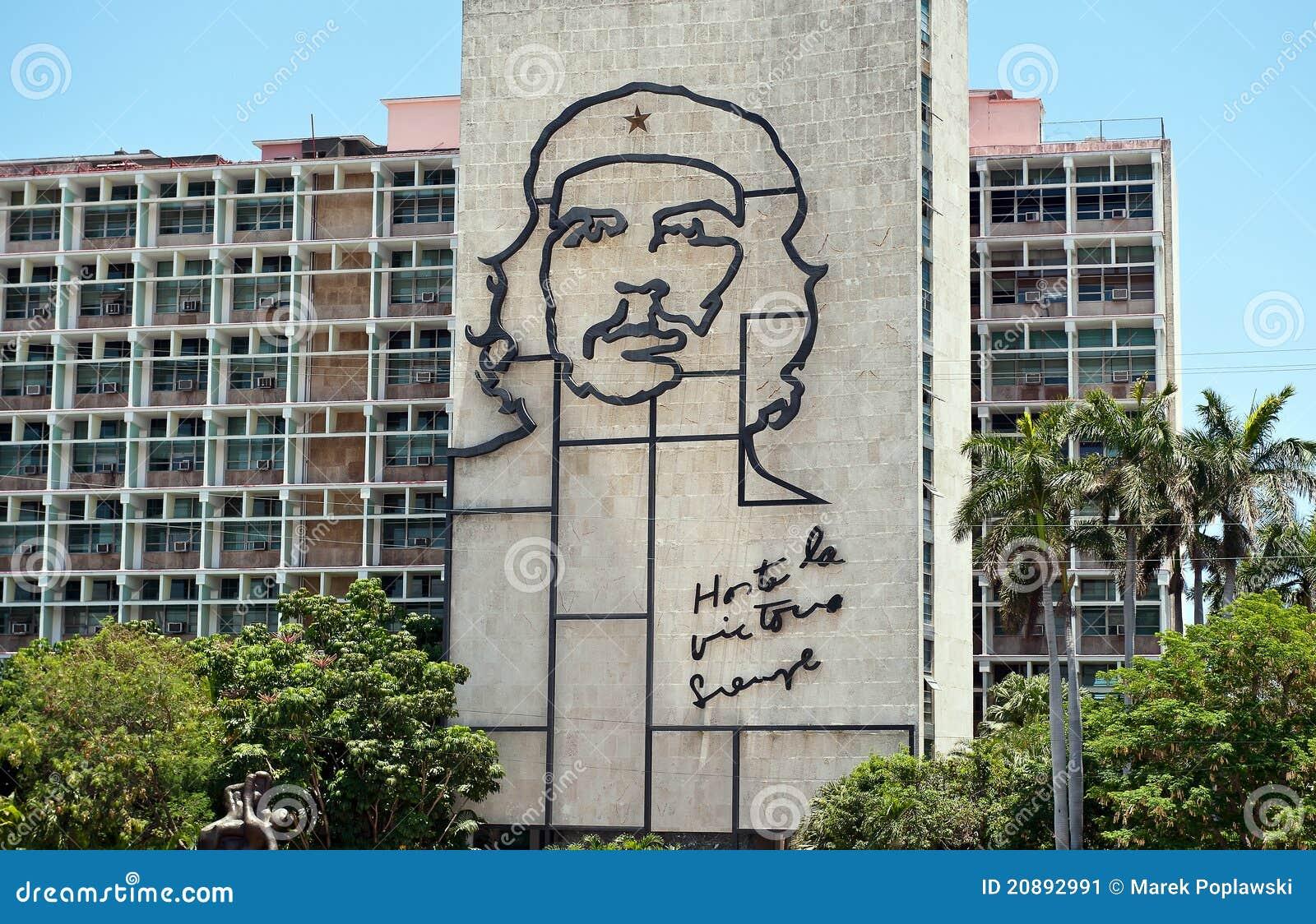 Iron work of Che Guevara image in Havana Cuba