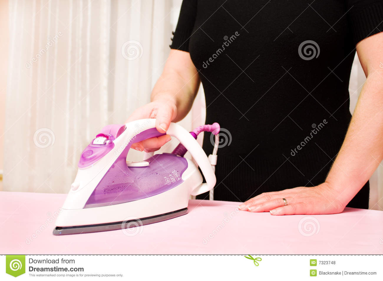 Ironing Clothes With Steam Iron Royalty Free Stock Photos ...