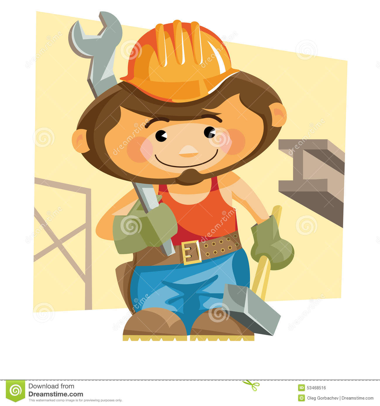 Ironworker stock vector  Illustration of illustration - 53468516