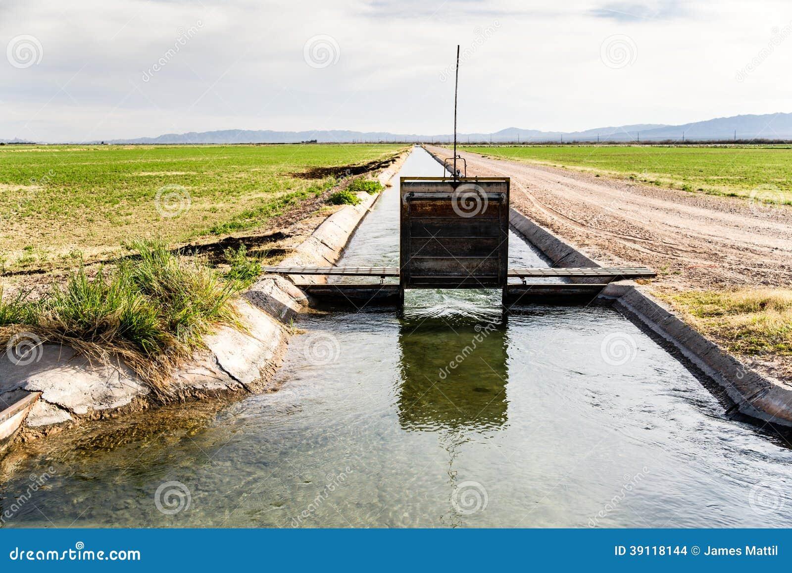 Irrigatiesloot met Stromend Water