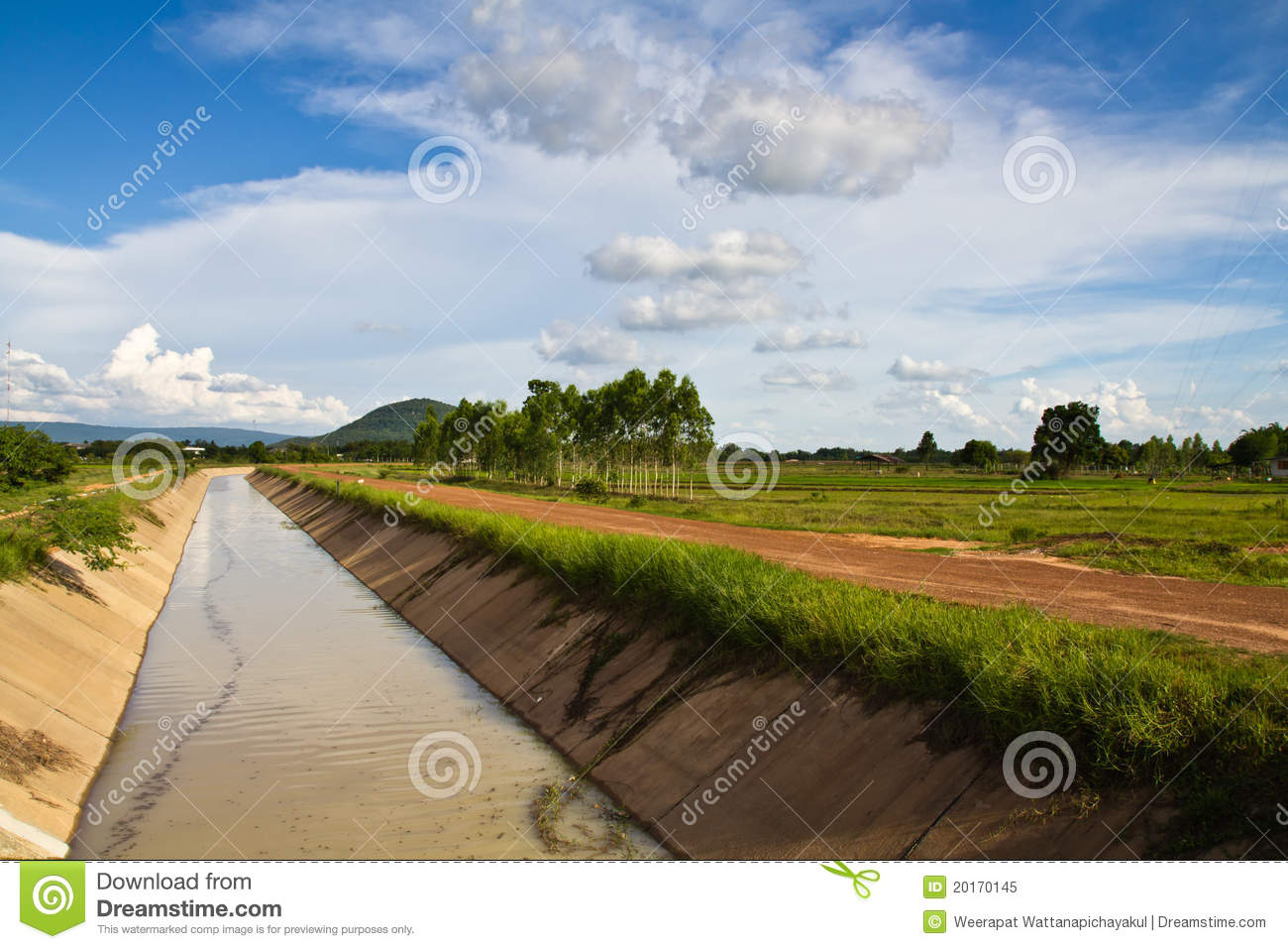 Agricultural Irrigation Canal : Irrigation canal royalty free stock photo image