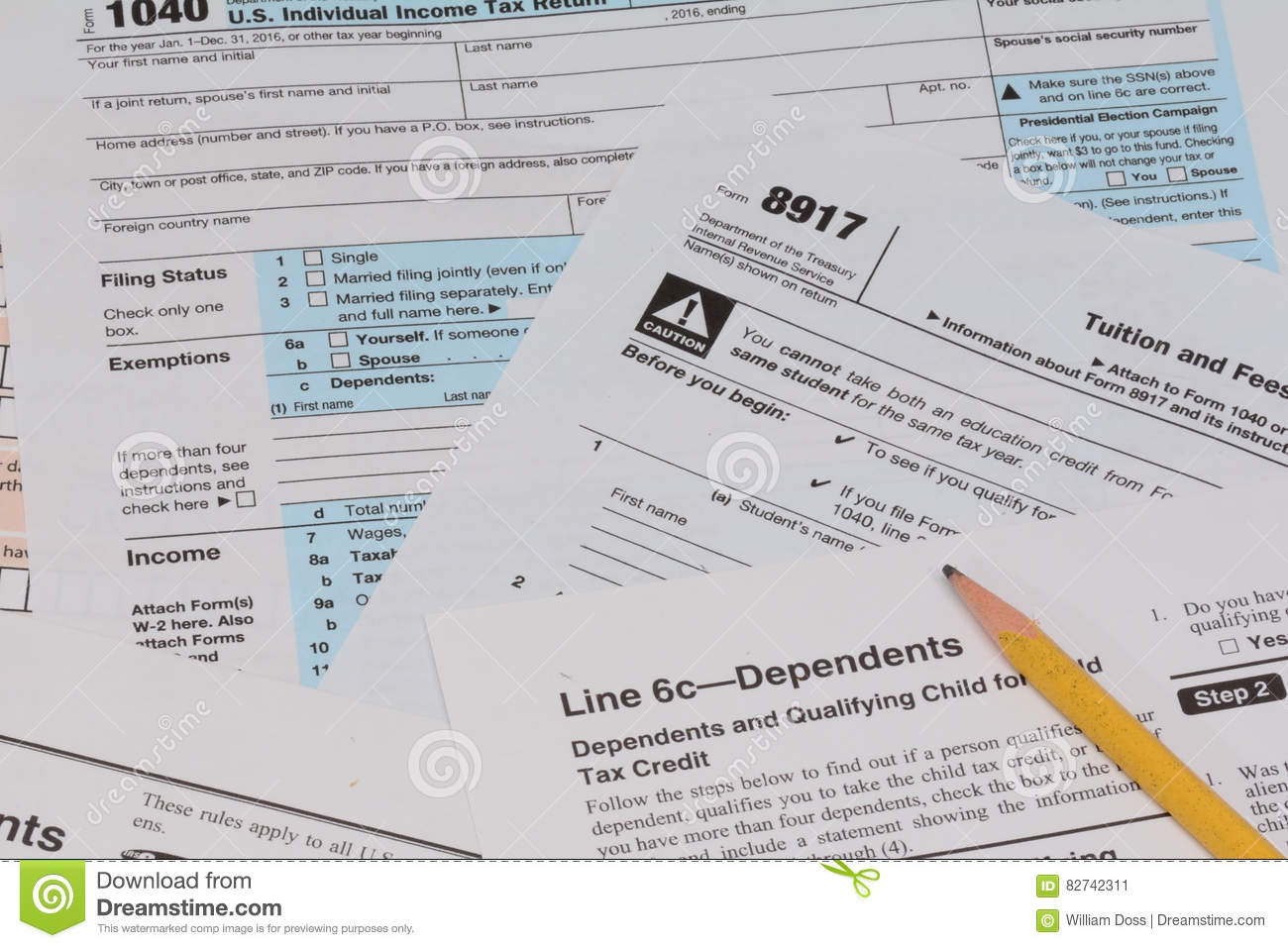 IRS and FAFSA tax forms stock image. Image of along, deadline - 82742311