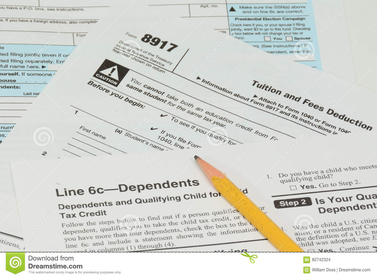 IRS and FAFSA tax forms stock photo. Image of winter - 82742324