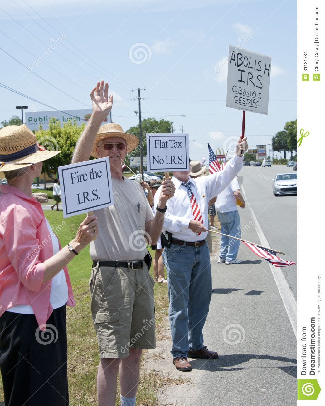 IRS Protest Editorial Stock Image. Image Of Protest, Party