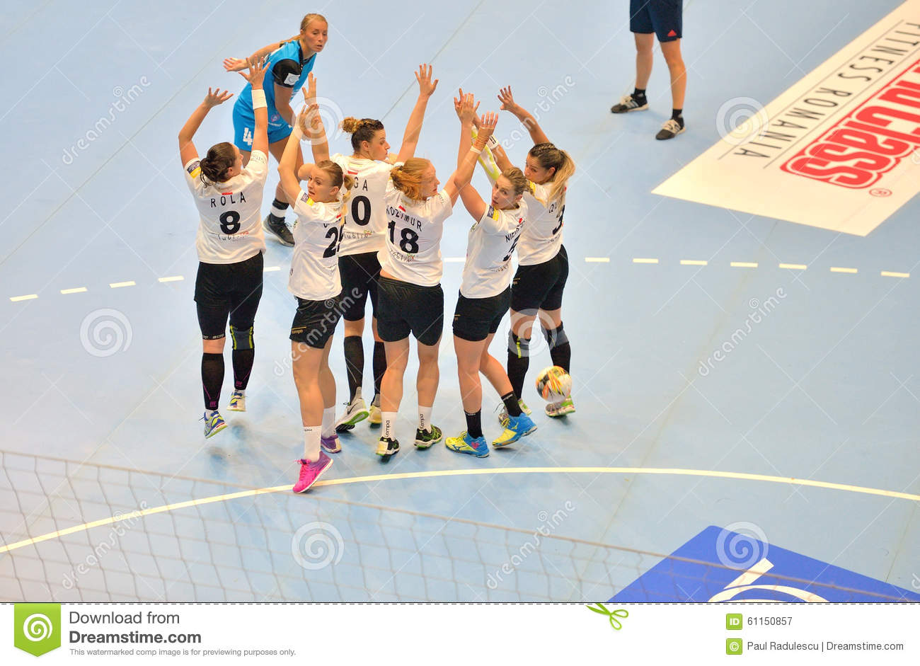 Isabelle Gullden, player of CSM Bucharest attacks during the match with MKS Selgros Lublin