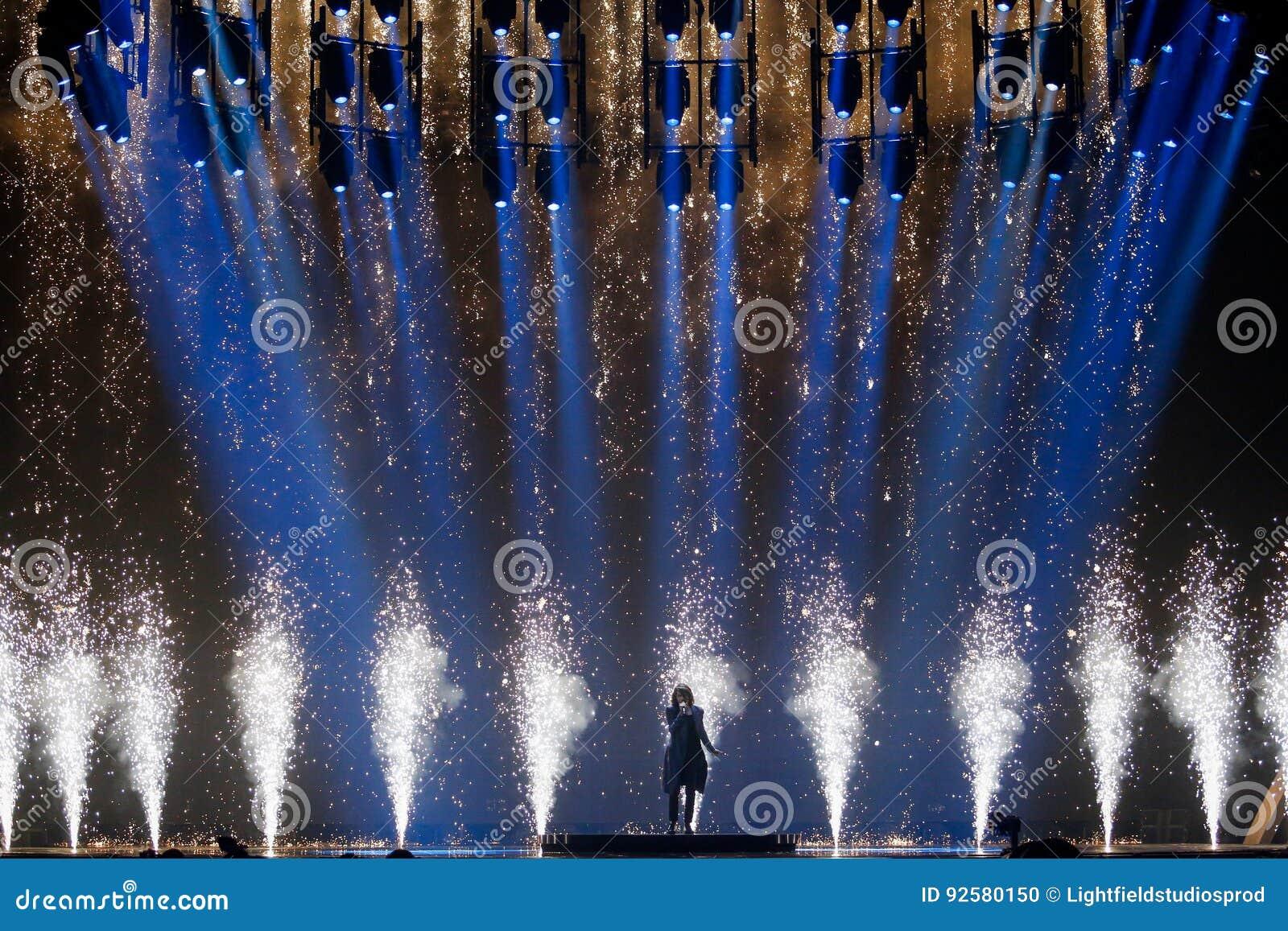 Isaiah Firebrace From Australia Eurovision 2017 Editorial Image Image Of Ukrainian Kyiv 92580150