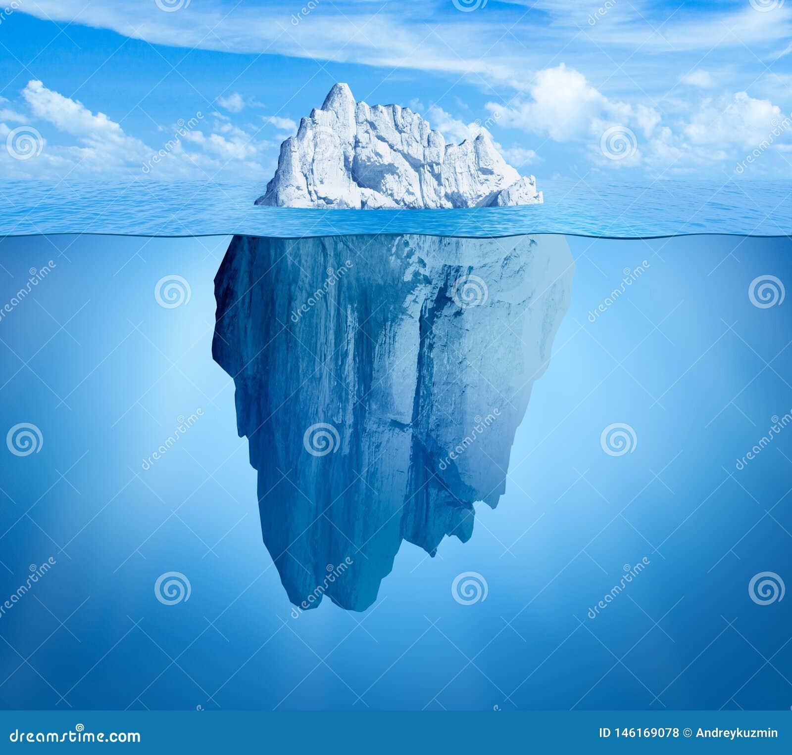 Isberg i havet G?mt hot eller farabegrepp Central sammans?ttning