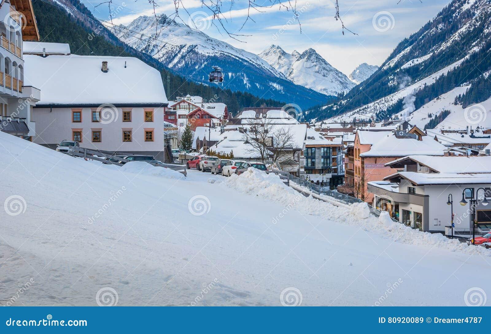 Ischgl skii resort in Austria, Europe.