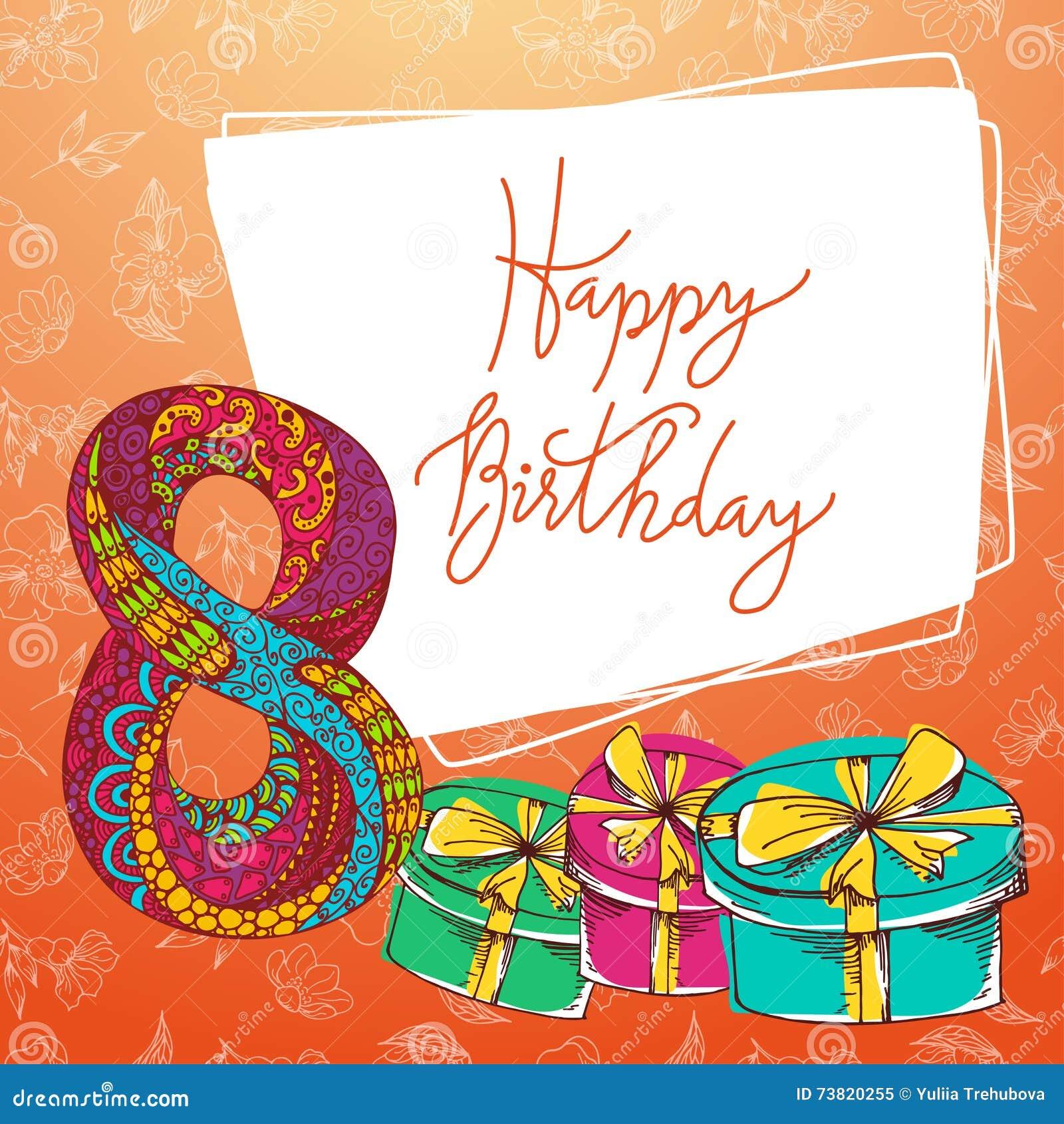 Iscrizione Della Mano Di Buon Compleanno Cartolina Dauguri Di