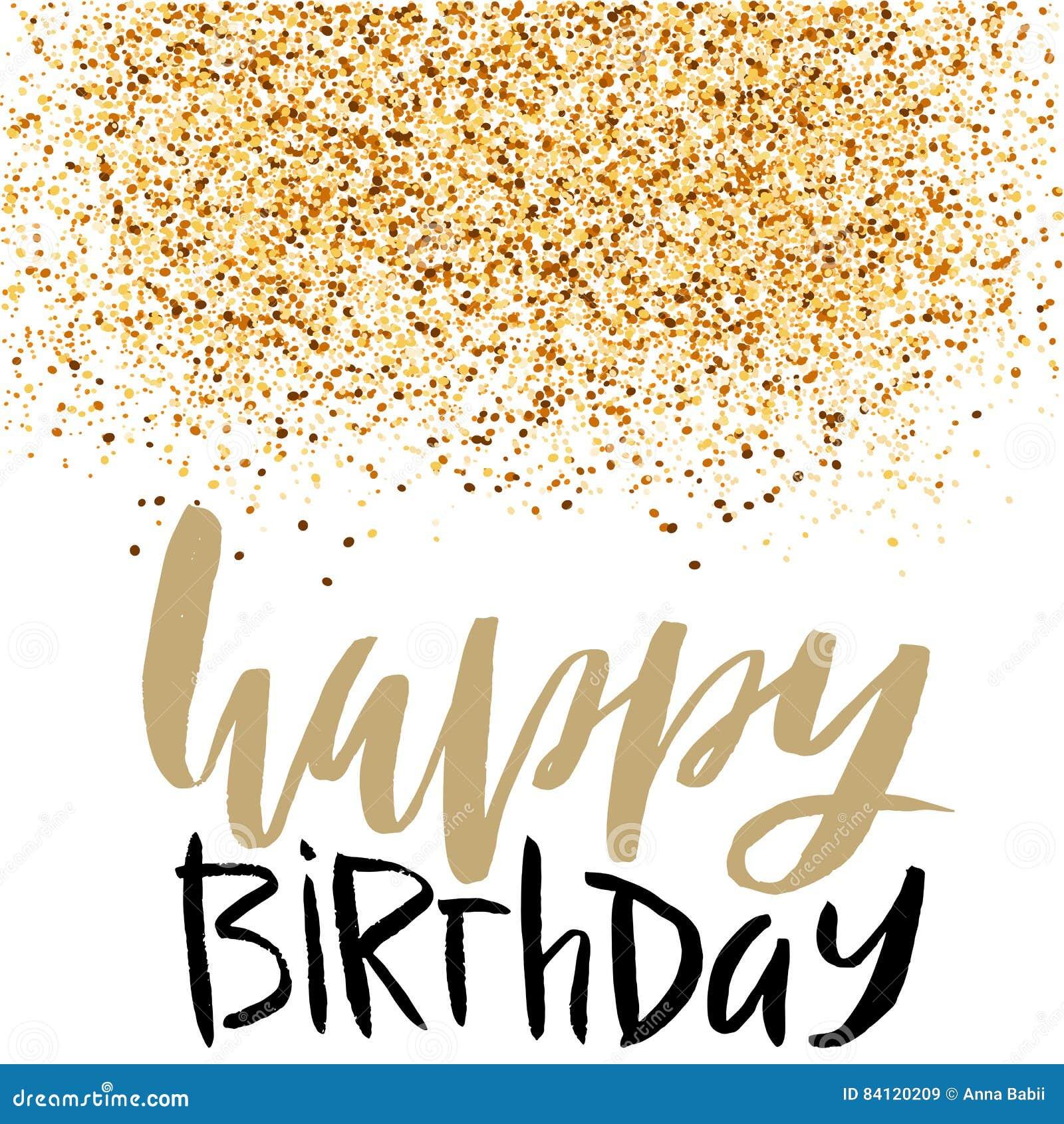Iscrizione Di Buon Compleanno Per La Cartolina D Auguri E Dell