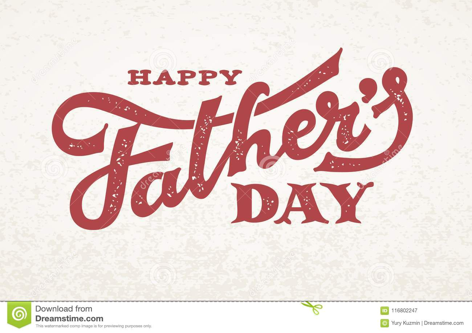 Iscrizione felice di giorno di padri