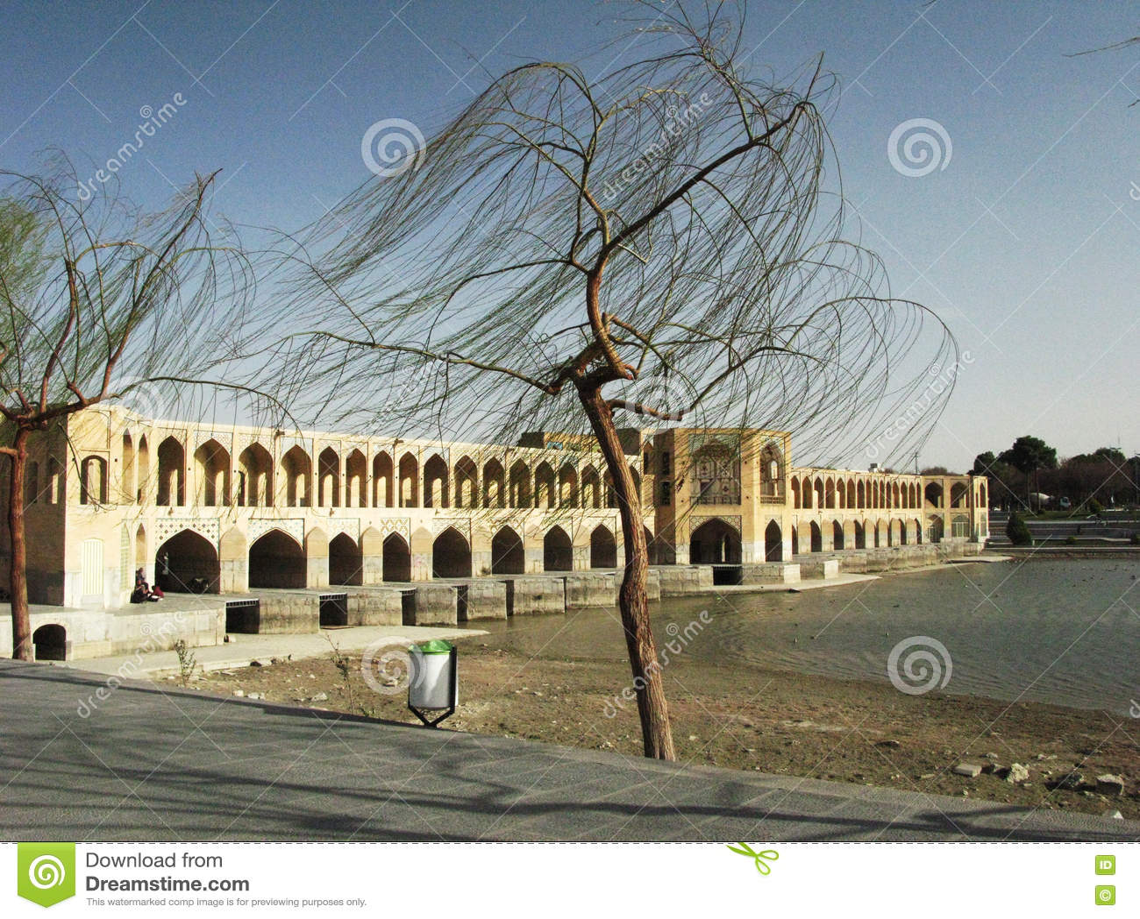 Isfahan-Brücke Windiger Tag