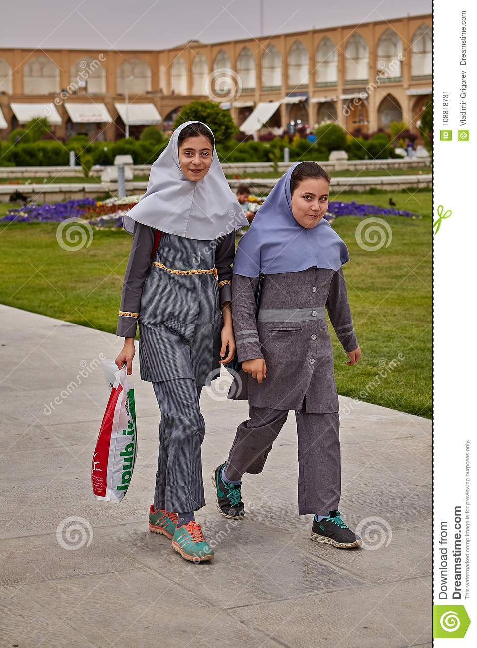 4462dcb2730c Two Iranian Girls Are Walking In The Park