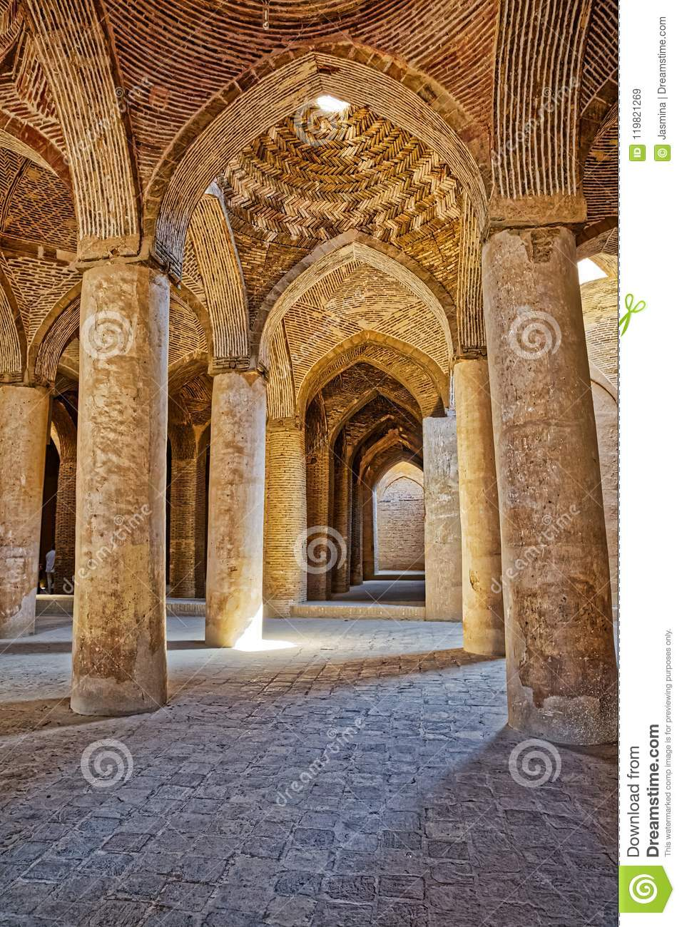 Isfahan Old Mosque Interior