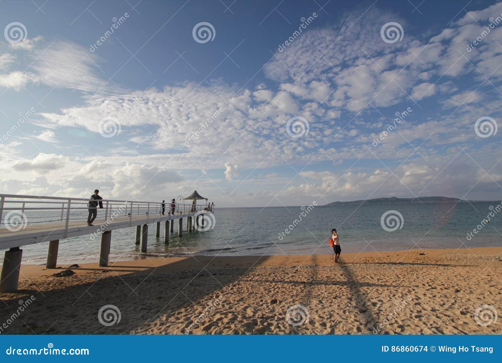 Sea, sky, cloud, beach, horizon, body, of, water, ocean, pier, shore, coast, sand, coastal, and, oceanic, landforms, vacation, wav