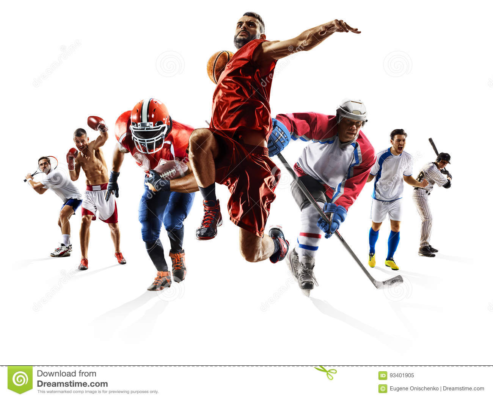 Spelare baseboll amerikansk fotboll fotboll basket ishockey