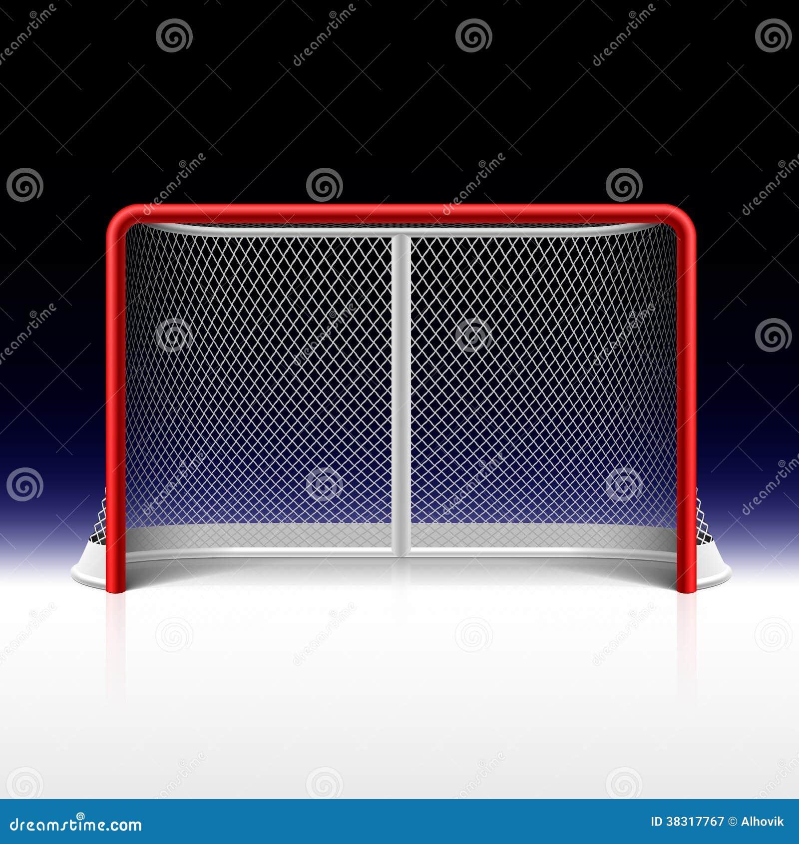 Ishockey förtjänar, målet på svart