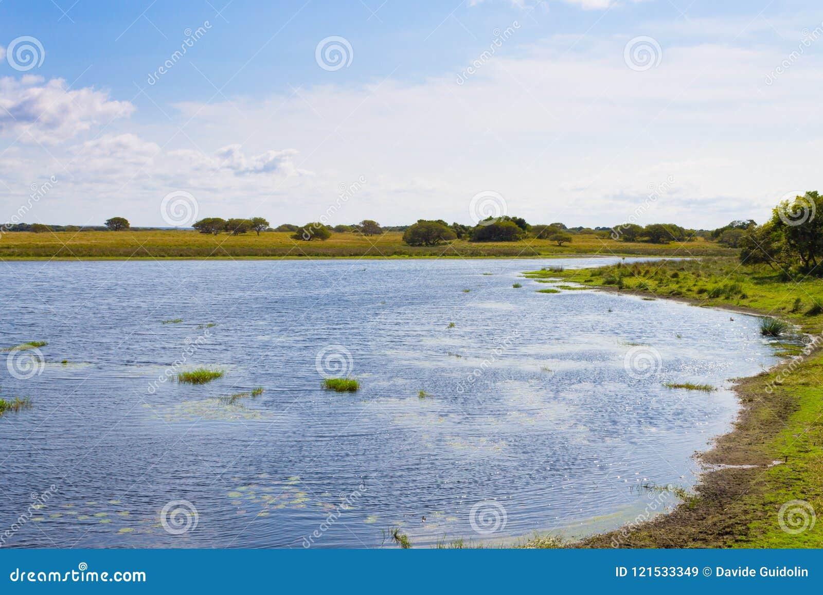 Isimangaliso våtmark parkerar landskap