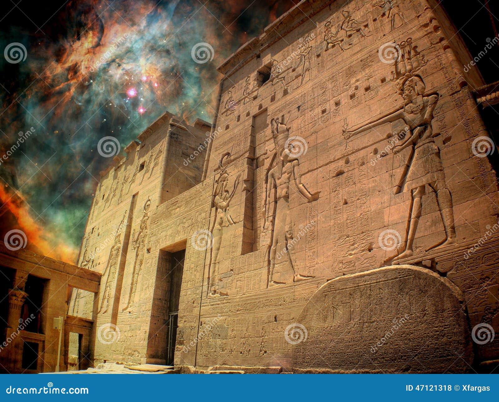 Isis świątynia i Orion mgławica (elementy ten wizerunek meblujący b
