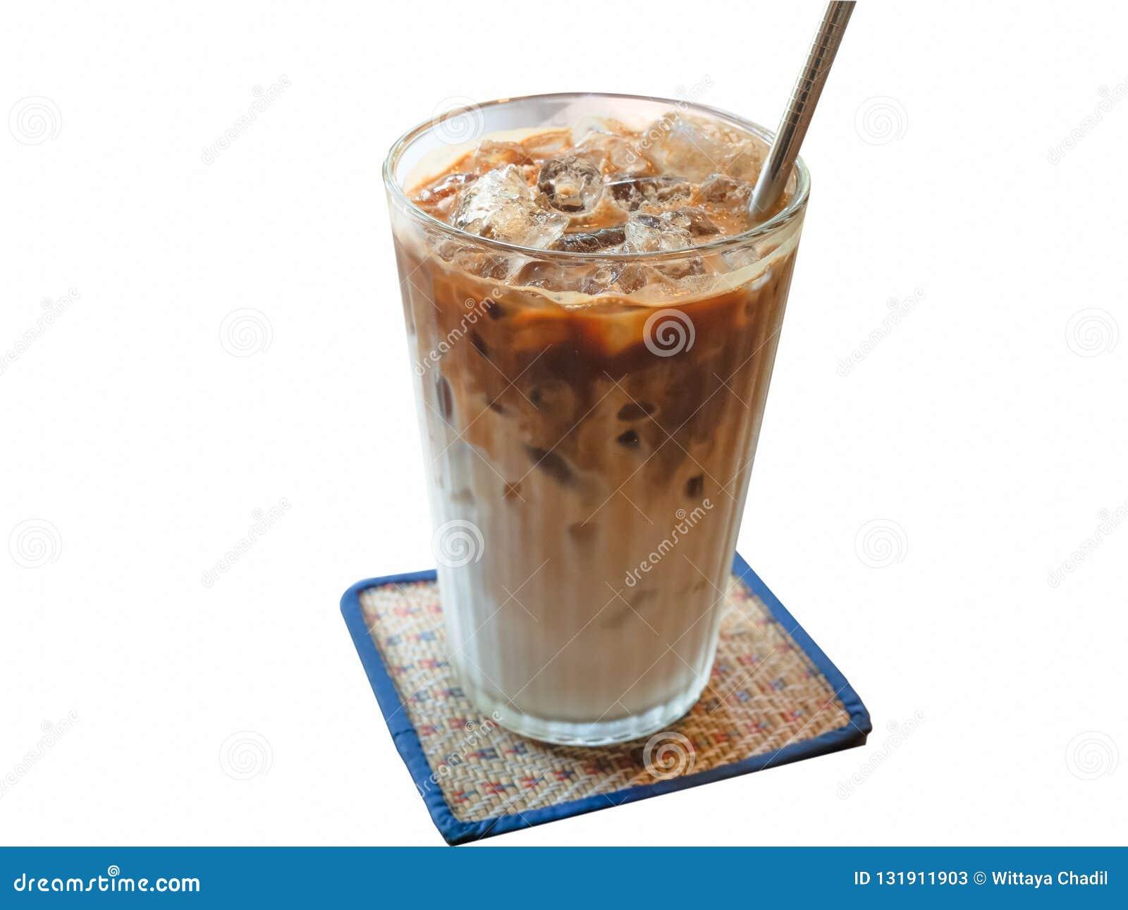 Iskaffe som isoleras på en matt bakgrund