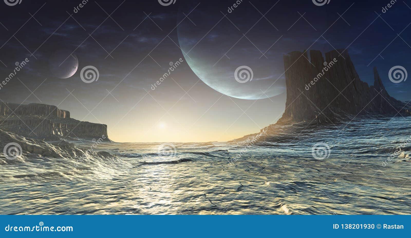 Iskall främmande planet