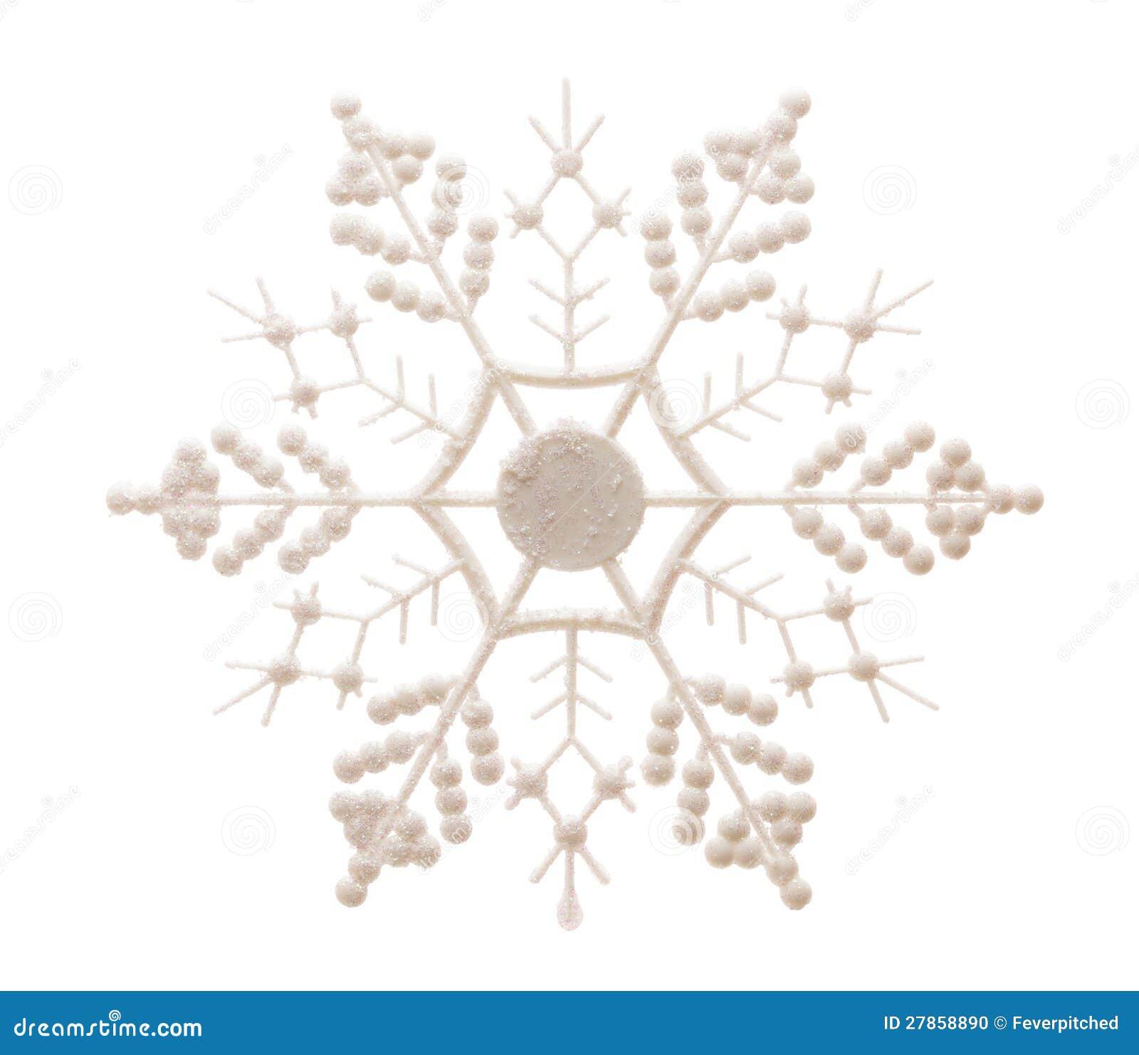 Iskrzasty płatek śniegu Odizolowywający na bielu