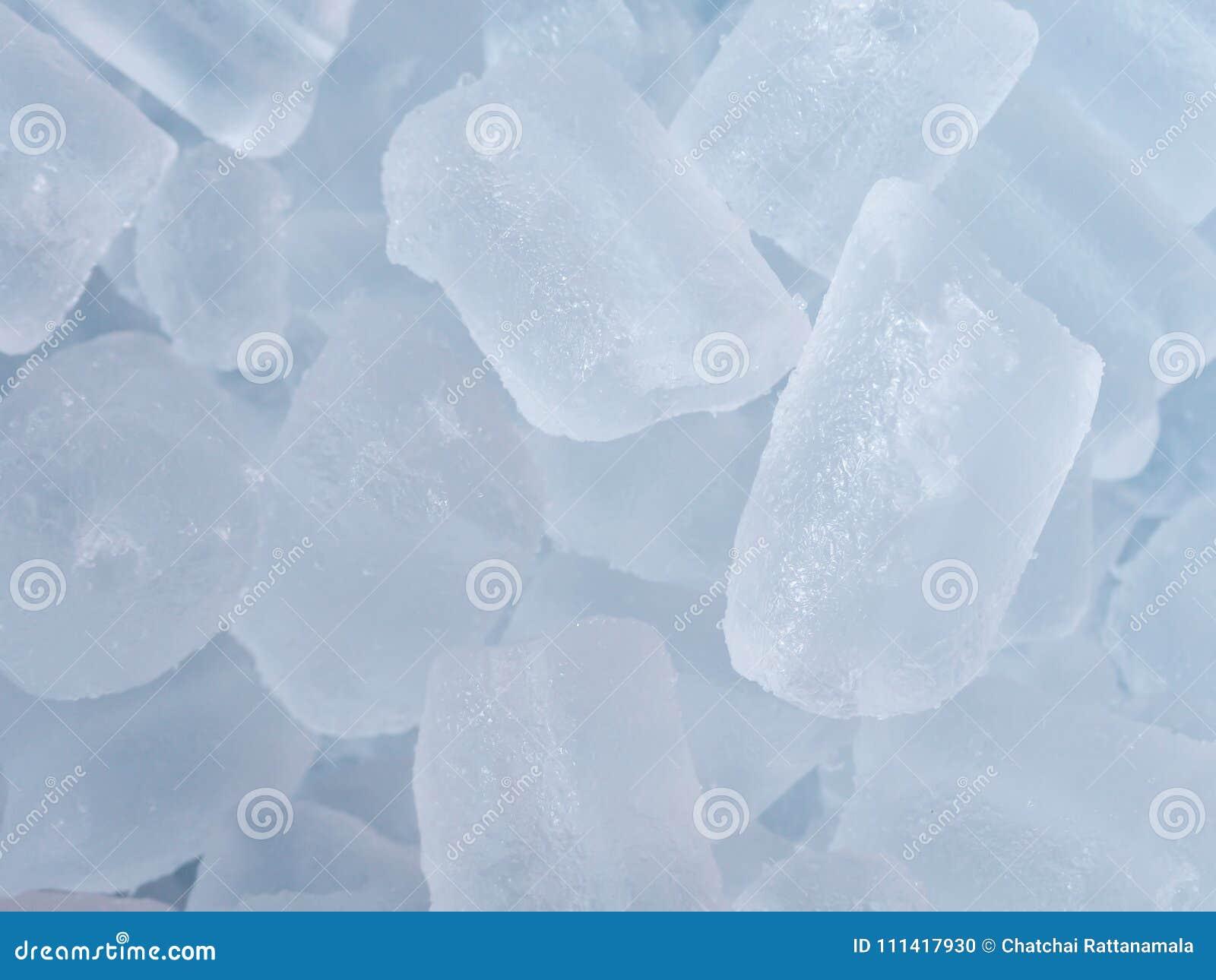 Iskuber på bakgrund