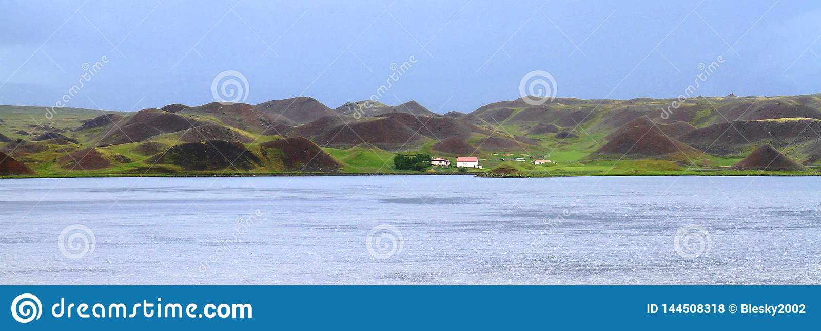 Isländsk countraside, norr Island