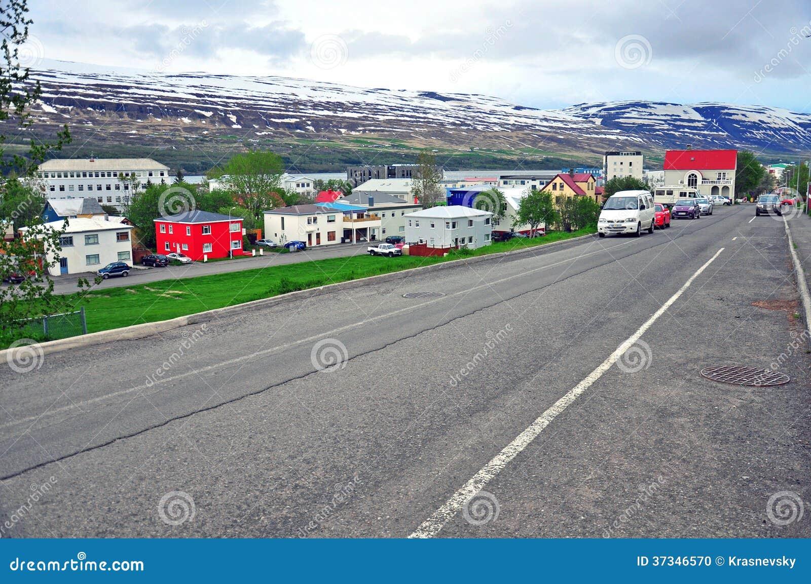 Isländsk stadsgata