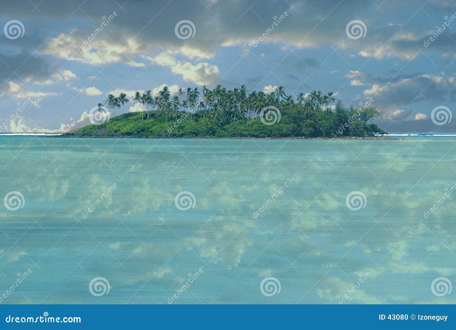 Download Isla abandonada foto de archivo. Imagen de abandonado, nubes - 43080