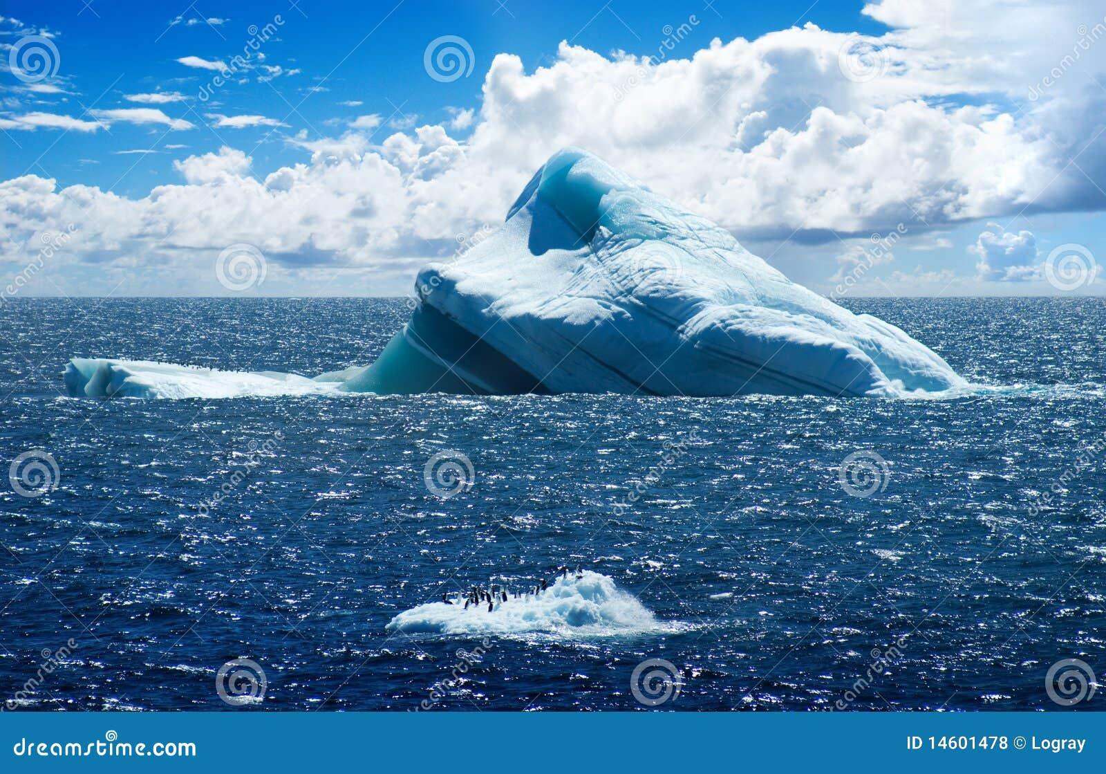 Isla antártica del hielo