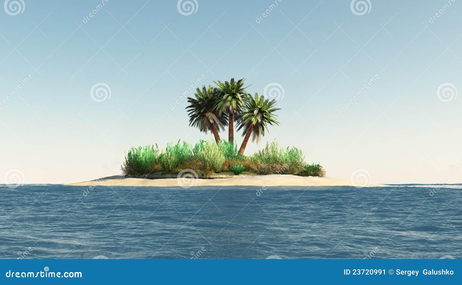 Isla con las palmeras