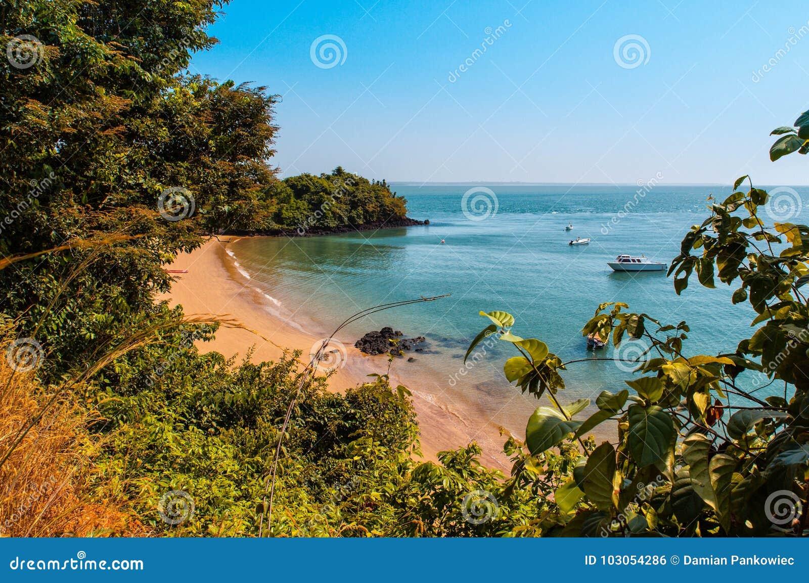 Isla de Guinea-Bissau Bijagos de las Áfricas occidentales