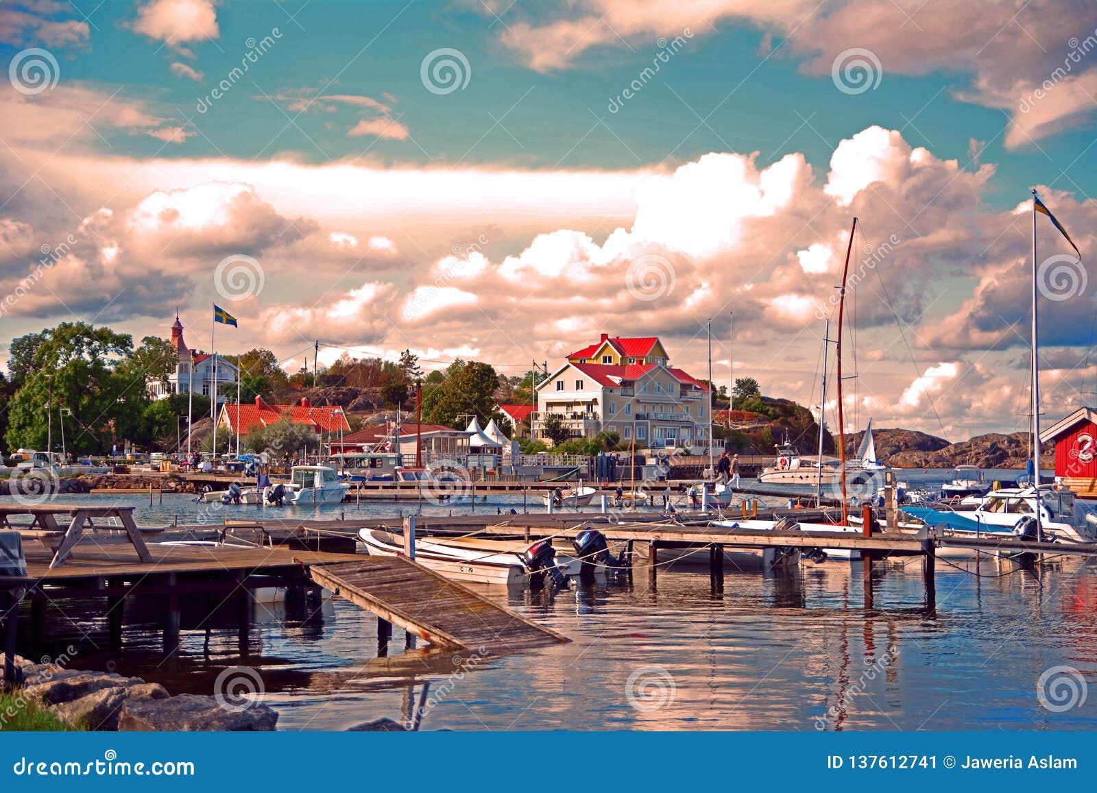 Isla de Styrso en el archipiélago de Sothern de Goteburgo