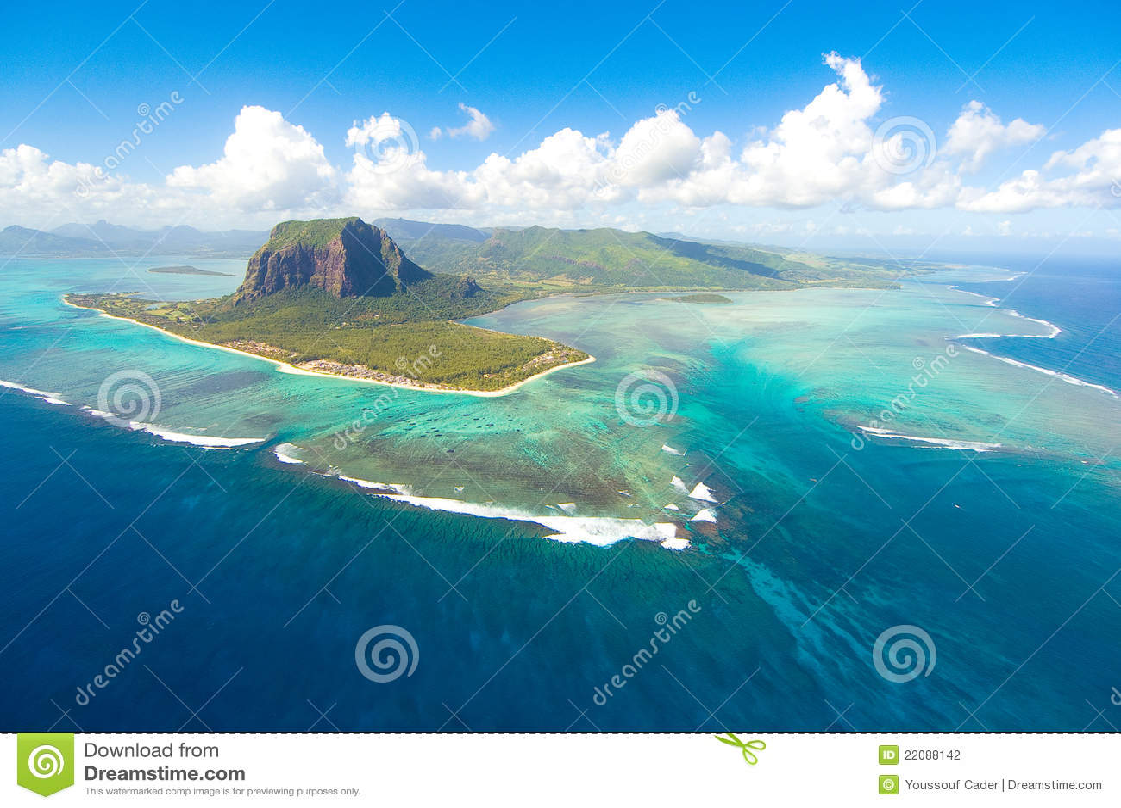 Isla Mauricio aérea
