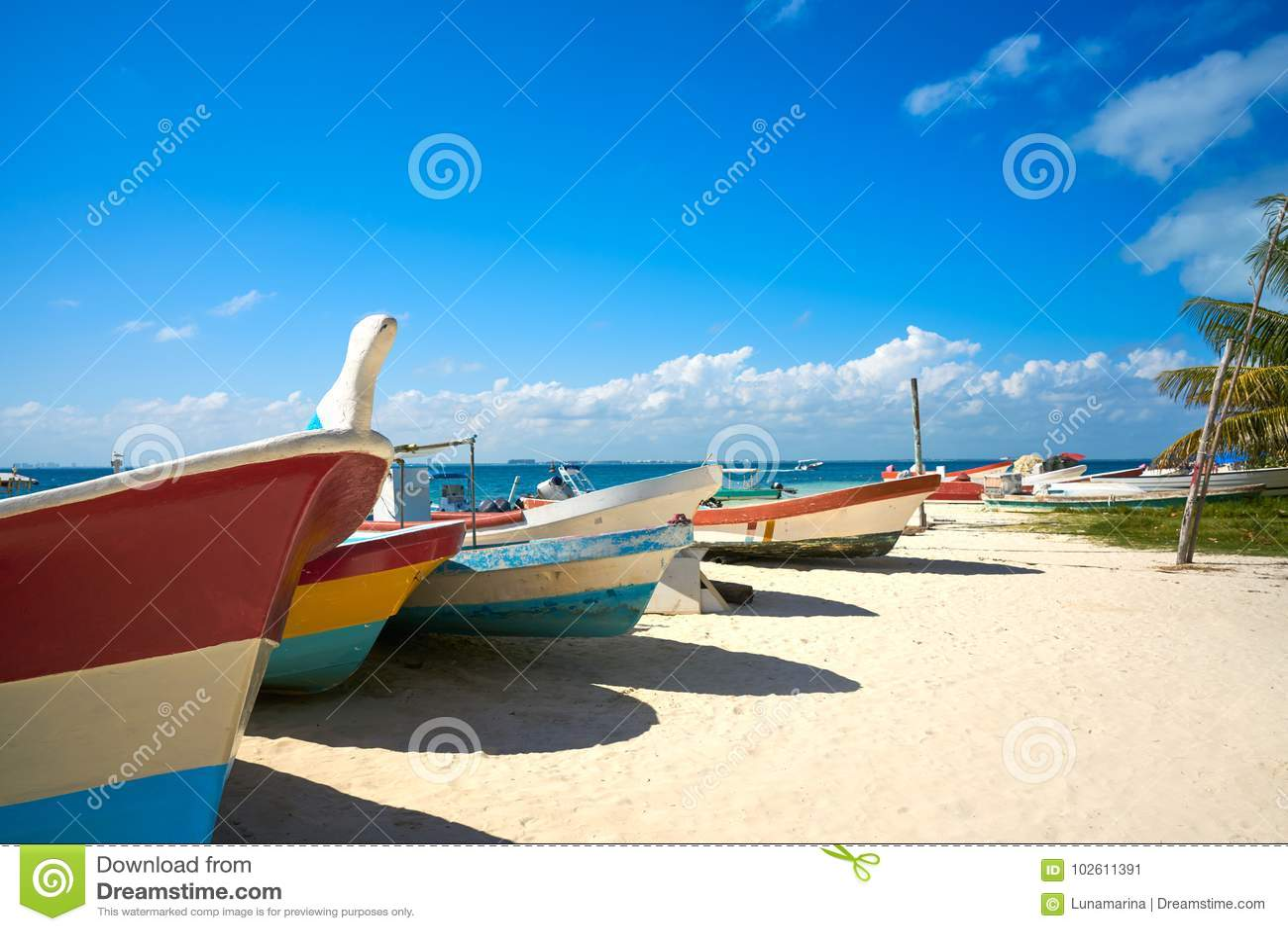 Isla Mujeres-eiland Caraïbisch strand Mexico