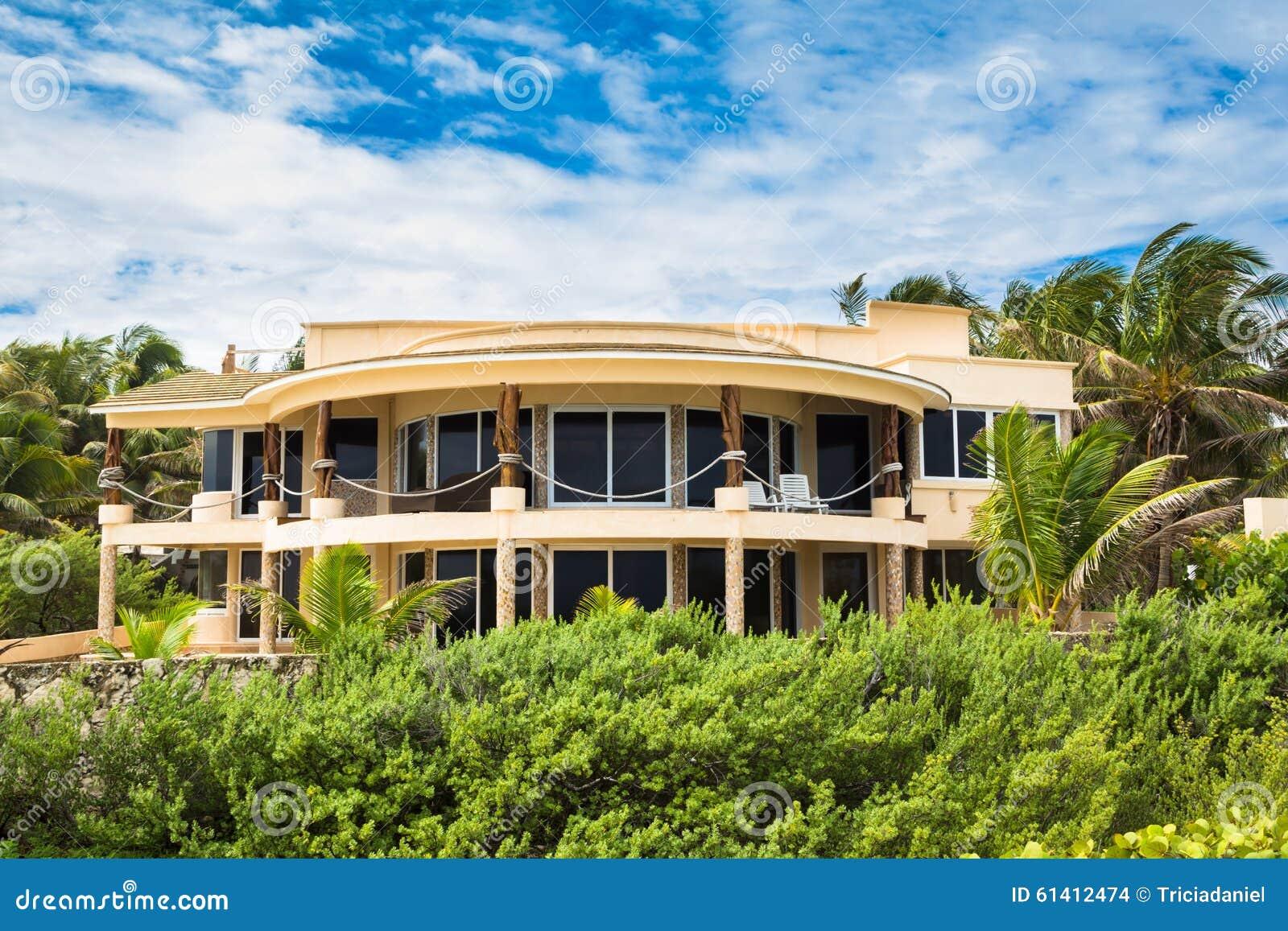 Isla Mujeres Mexico Beach House Stock Photo Image 61412474