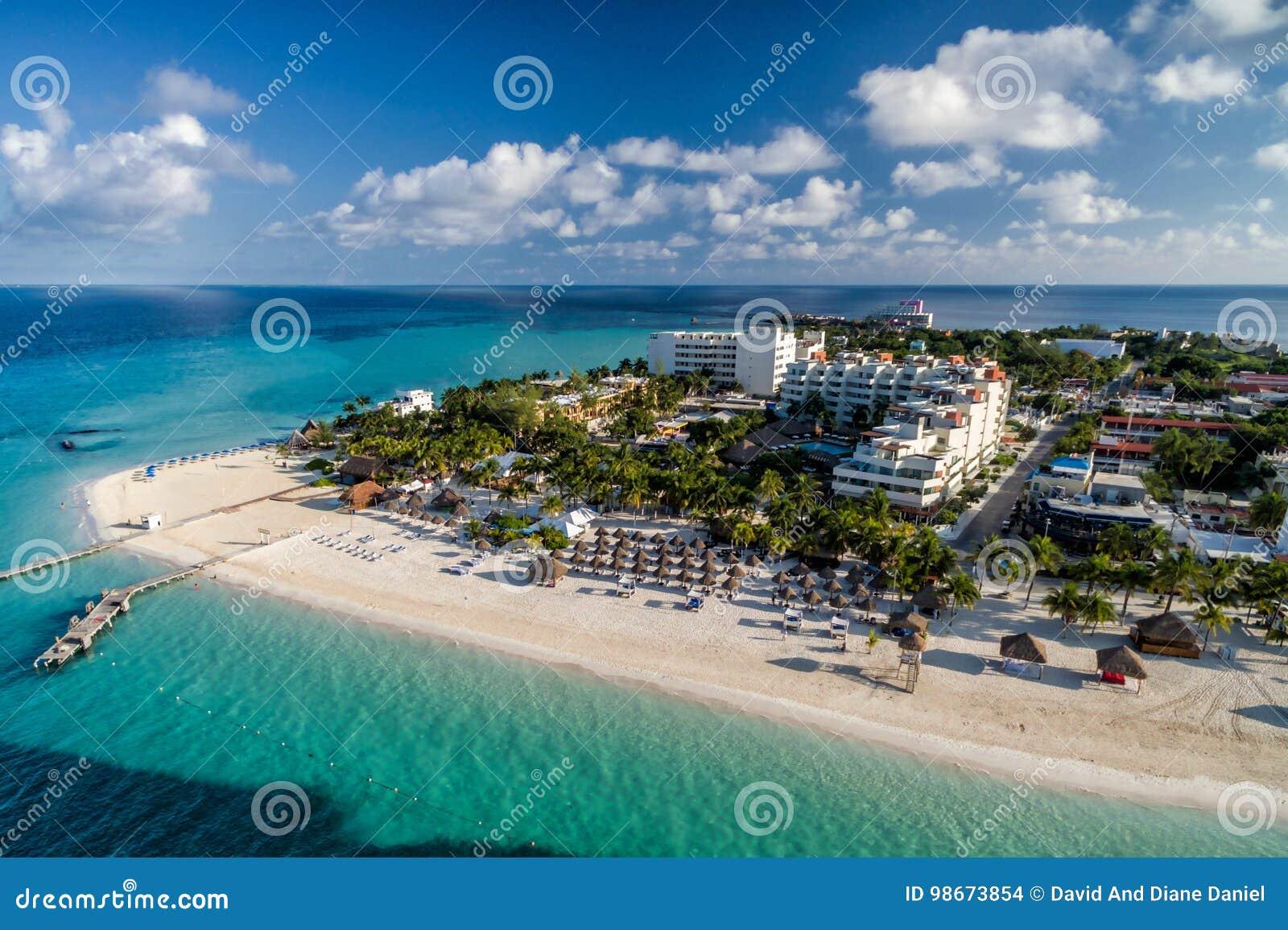 Isla Mujeres Mexico Caribbean Beach - foto da antena do zangão