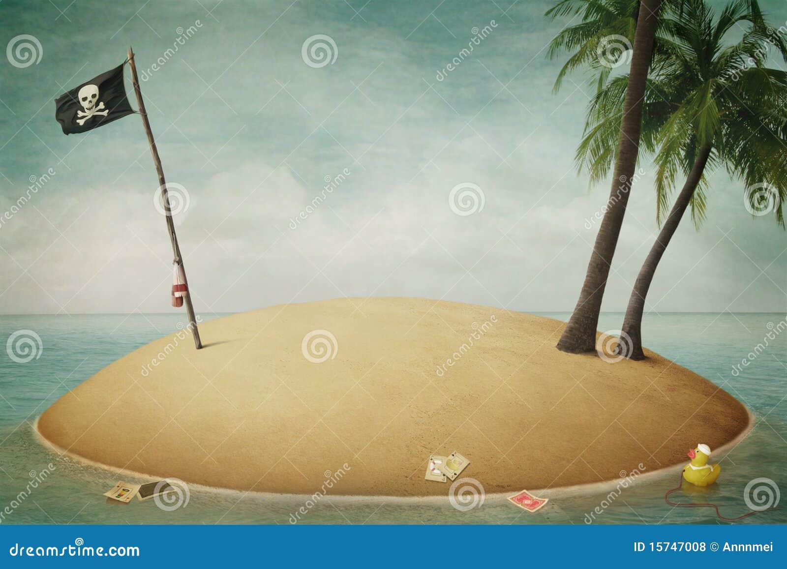 Isla, piratas, aventura y mar