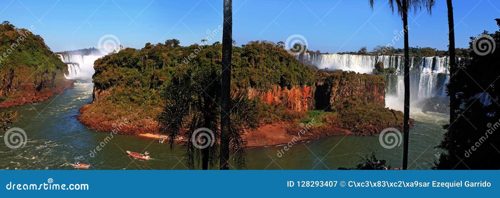 Isla San Martin Iguazu Falls Argentina Stock Image Image Of