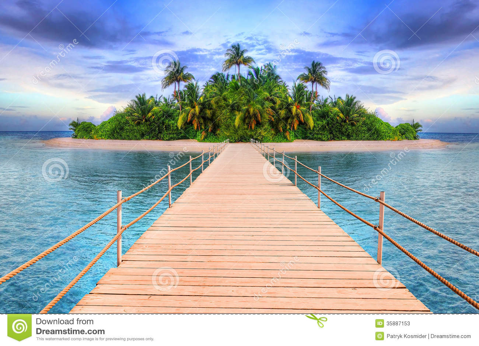 Isla tropical de Maldivas