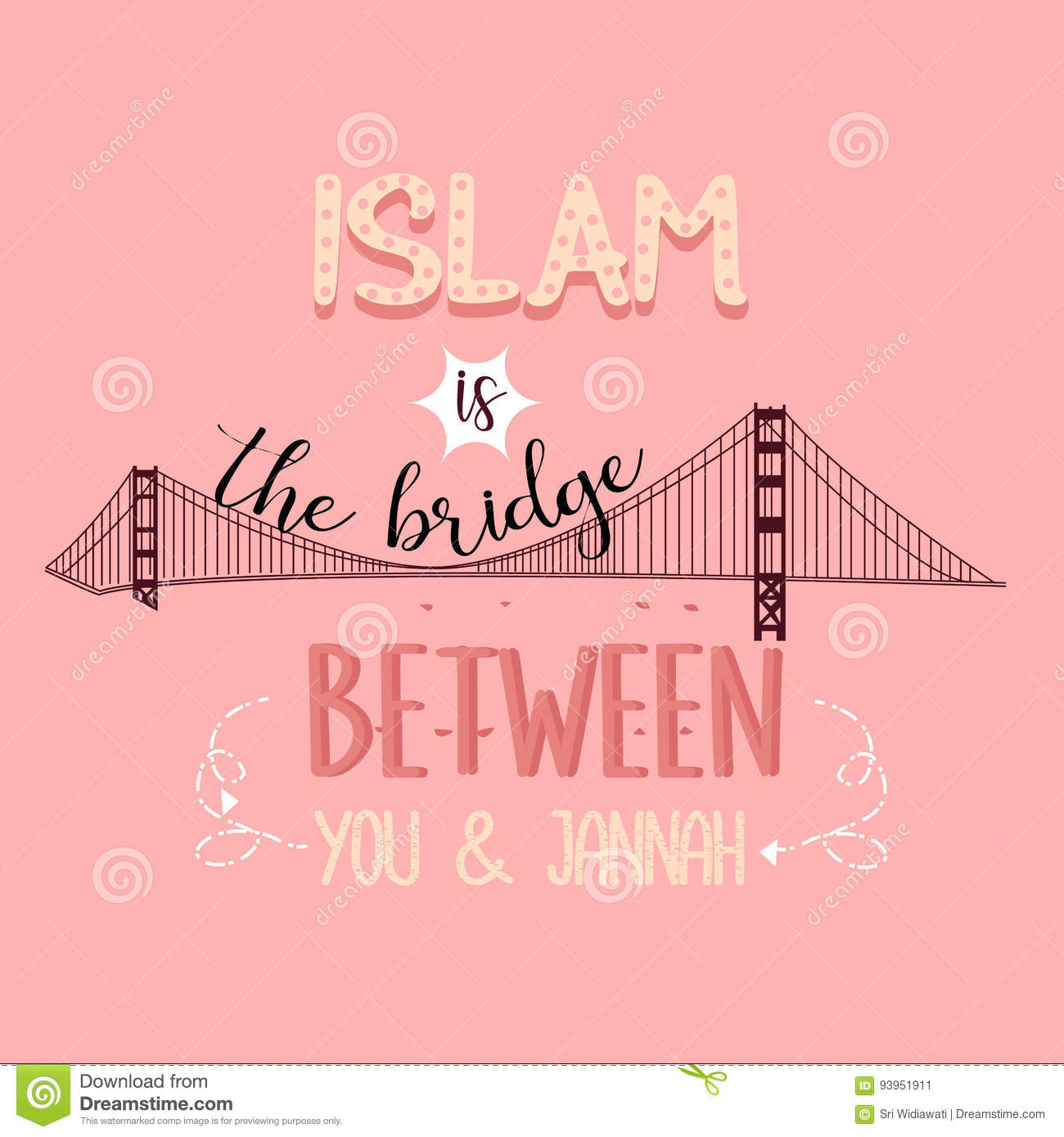 Islam Is The Bridge Between You And Jannah Heaven Quotes Stock