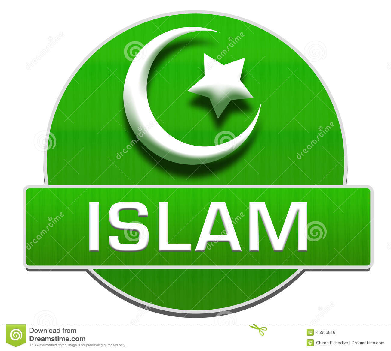 Islam Green Circle Stock Illustration Illustration Of Mubarak