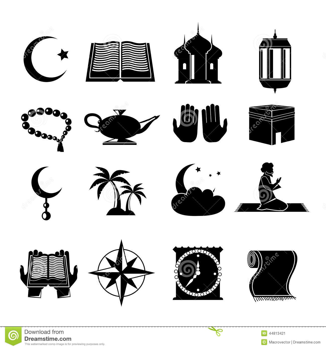 how to draw muslim symbol