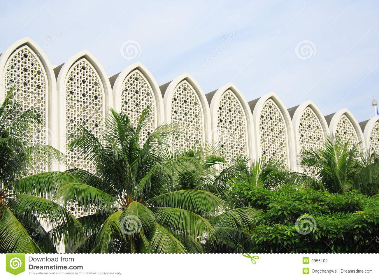 Islam modern building stock photography image 3956102 for Architecture islamique moderne